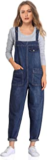 Women's Casual Baggy Denim Bib Overall