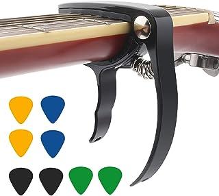 ERKOON Guitarra Capo para guitarra acústica, guitarra eléctrica, ukelele capo, afinador de accesorios para instrumentos, n...