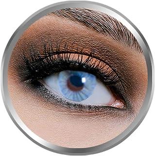 Flex Pure Blue Contact Lenses, Original Unisex FlexEyes Cosmetic Contact Lenses, 6 Months Disposable, Blue Color