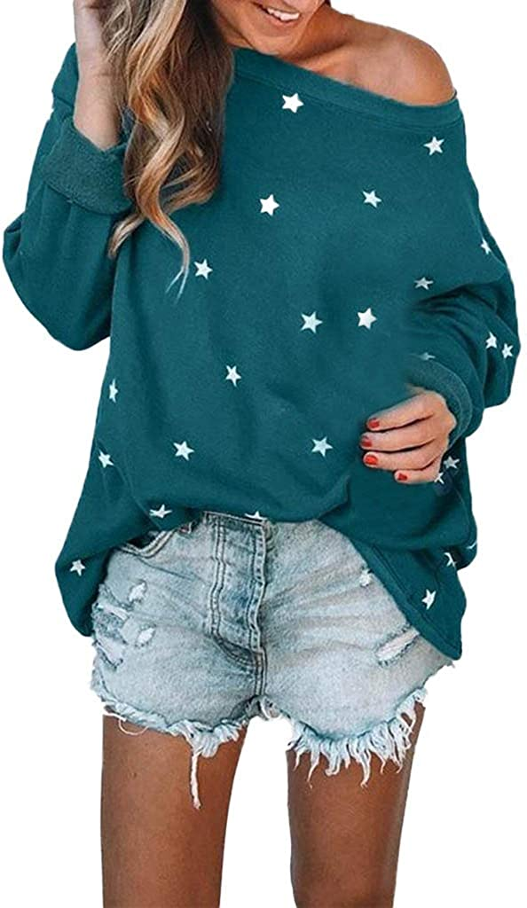 Misaky Women's Blouses Casual Long Pattern Sleeve Of El Paso Mall safety Star Cotton