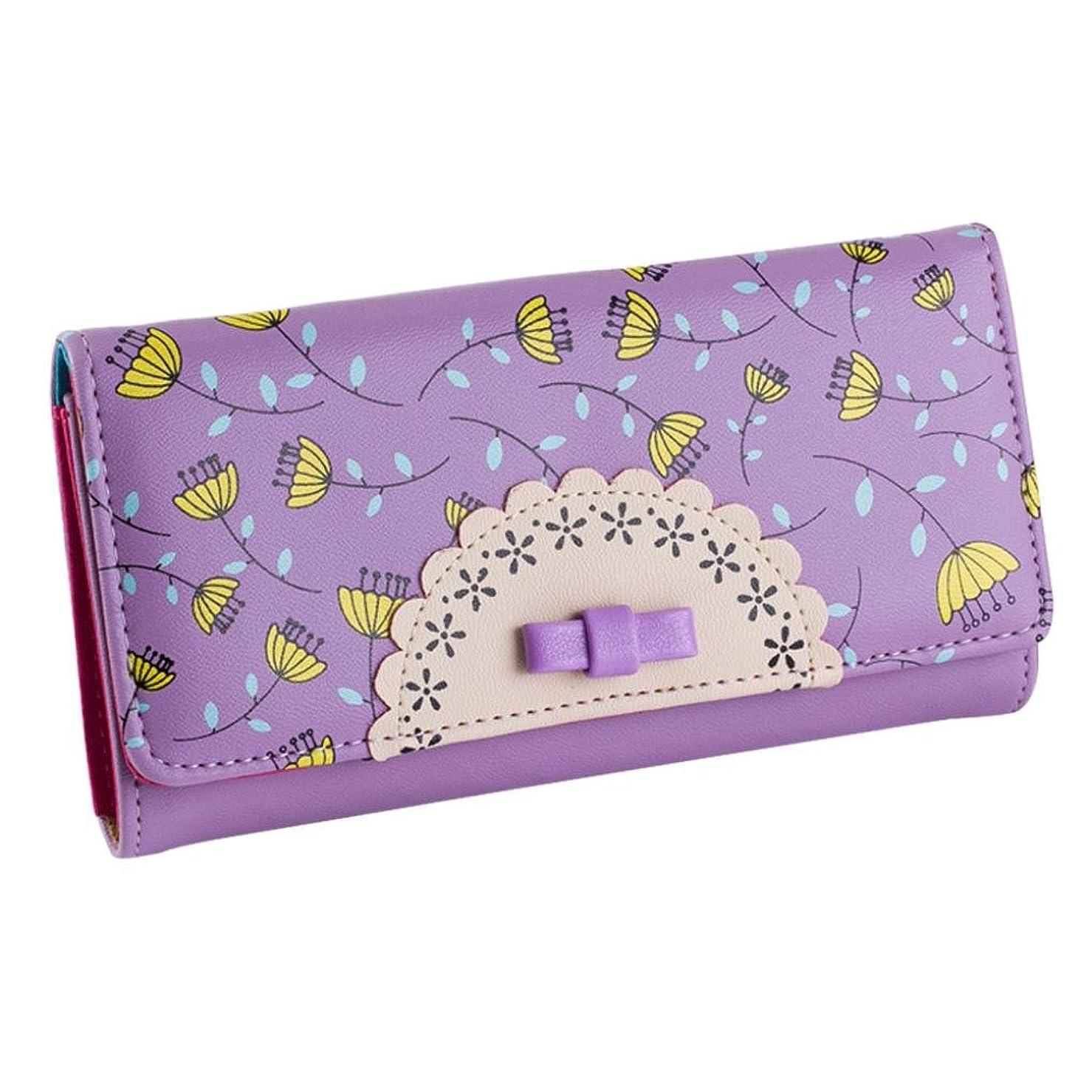 失う失アートgbsell Lady Women Girl PurseクラッチバッグSweetカレッジ風リボン付き財布