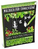 Malbuch für Erwachsene: Mein Nachtspaziergang (A4 Nacht Edition, 40+ Ausmalbilder, Ideal für Neon & Glitzerstifte, Kleestern®)