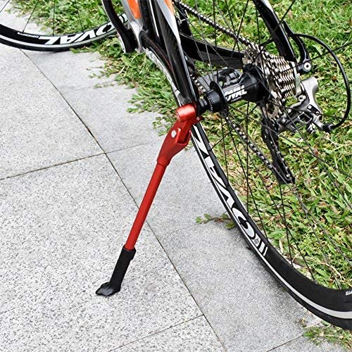 Fran/_store Adjustable Aluminium Alloy Bicycle Kickstand Bike Stand for Mountain Bike and Road Bike,Fit for 22-27 Inch Bicycles