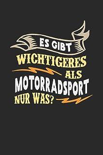 Es gibt wichtigeres als Motorradsport nur was?: Notizbuch A5 liniert 120 Seiten, Notizheft / Tagebuch / Reise Journal, per...