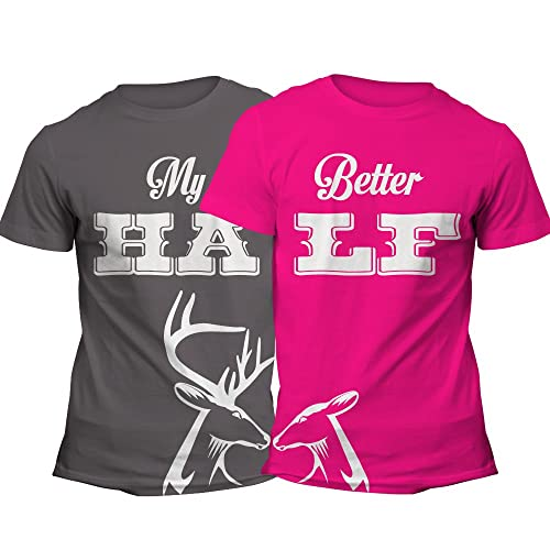 1e3830b927 Matching Couples Shirts His and Hers Shirt Set Her Buck His Doe