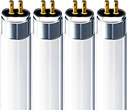 Luxrite F14T5/830 14W 22 Inch T5 Fluorescent Tube Light Bulb, 3000K Soft White, 60W Equivalent, 1140 Lumens, G5 Mini Bi-Pin Base, LR20856, 4-Pack