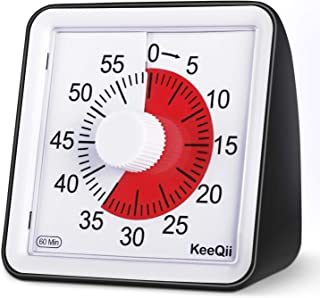 KeeQii Kids Timer, 60 Minute Visual Timer, 3 inch Countdown Timer for Kids and Adult,Time Management Tool for Teaching Cla...