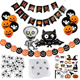 SicurezzaPrima Halloween Deko 2020 XXL Set - 71 Teile - Dekoration und Accessoires für Grusel Party...