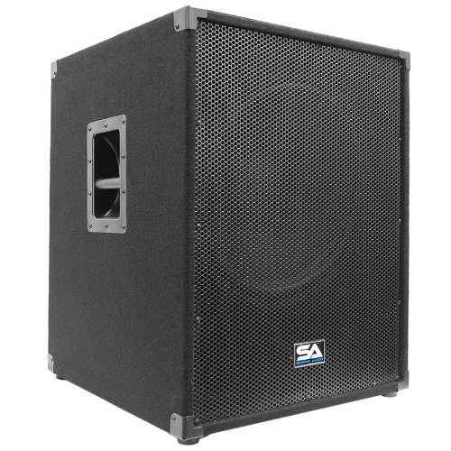 "Seismic Audio - Aftershock-18 - Powered PA 18"" Subwoofer Speaker Cabinet"