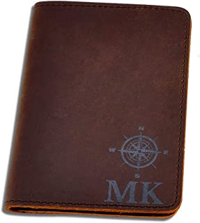 Personalized Genuine Leather Passport Cover; Printed Travel Passport Holder