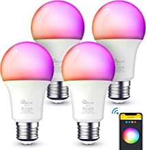 Smart Light Bulbs Work with Alexa, Google Home, A19 E26 Smart Bulb WiFi LED Light Bulbs Dimmable RGB Color Changing Light ...