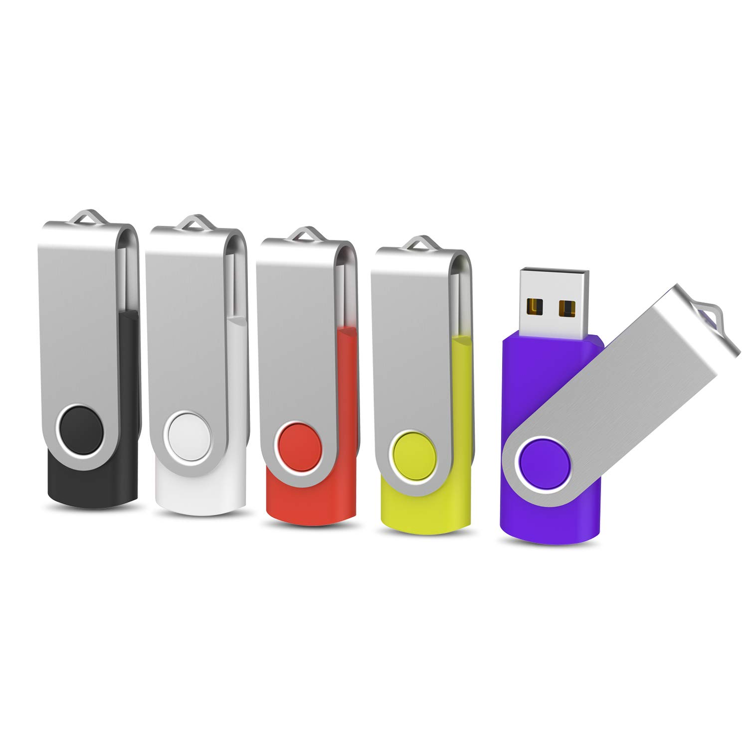 8GB Memoria USB 2.0 5 Unidades KOOTION Pendrive 5 Piezas Flash Drive Pen Drives 8 Giga Memory USB Stick Pack 5 Lote Pen USB, Negro, Blanco, Rojo, Amarillo, Púrpura: Amazon.es: Electrónica