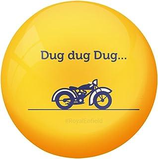 AVI Fridge Magnet with Yellow Colour Bullet Motorcyle DUG DUG DUG Design MR8000240