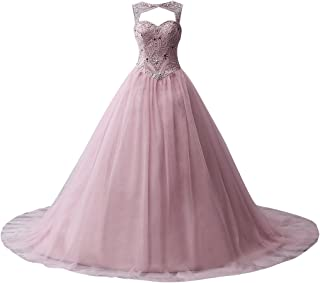 6dd57b9f35c JAEDEN Ball Gown Quinceanera Dresses Beading Tulle Long Prom Dress Gown