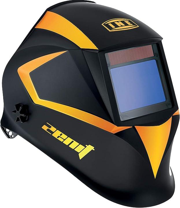 casco per saldatura ine zenit classe ottica 1/1/1/1, filtro true color,  finitura opaca antiriflesso prsh06a