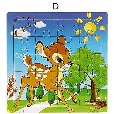 BOBORA Puzzles Infantiles de Madera Juegos Juguetes Educativos de Aprendizaje Juguete Rompecabezas de Madera para Niños Pequeños de 1 Año (10 Patrón) por BOBORA