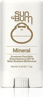 Sun Bum Mineral Sunscreen Face Stick SPF 50|Reef Friendly Broad Spectrum UVA/UVB Protection|Hypoallergenic,Paraben Free,Gluten Free,Vegan|.45oz
