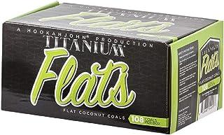 Titanium Coconut Hookah Coals (Titanium Flats)