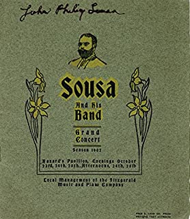 "John Philip""The March King"" Sousa - Program Signed Circa 1902"