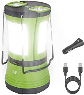 LE LED Camping Lantern Rechargeable, 600LM, Detachable Flashlight, Perfect Lantern..