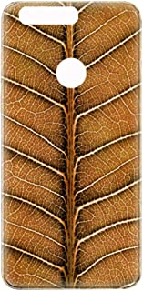 Huawei Honor 8 Natural Dried Leaf Pattern Design Case - Brown