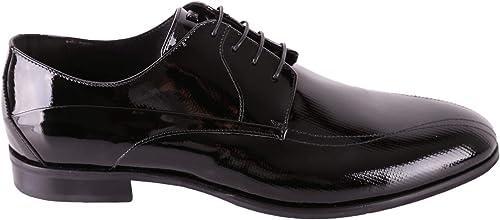 Carlo Pignatelli Homme 36Z8521DIAMnoir Noir Cuir Chaussures à Lacets