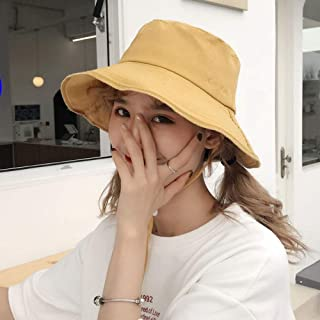 Fisherman's Hat, Women's Fashion Sun Hat, Simple and Modern, Outdoor Activity Hat, Perfect Gift (Color : Yellow)