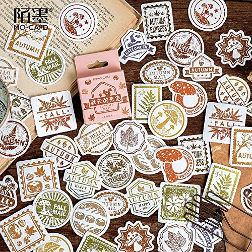 46 pcs/pack Letters In Autumn Decorative Stationery Stickers Scrapbooking DIY Diary Album Stick
