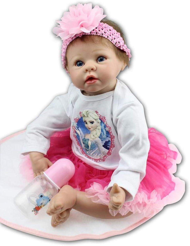 55cm Reborn Baby Doll Soft Silicone Blinking Dolls Lifelike Handmade Birthday gift