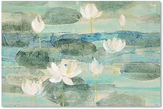 Water Lilies Bright by Albena Hristova, 16x24-Inch Canvas Wall Art