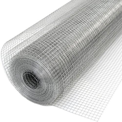 Niederberg Metall 20m x 100cm Volierendraht - Verzinkt 12x12mm - Maschendrahtzaun Kaninchendraht