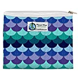 Planet Wise Mermaid Tail Reusable Zipper Sandwich and Snack Bag | Reusable Food Storage Bags For Anything You Need | Environmentally Friendly And Budget Friendly Reusable Plastic Bags | Zipper Bags
