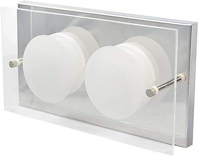 WOFI 405802016000 Wandleuchte, Métal, Integriert, 11 W, Silber, Transparent, 22 x 11.5 x 5.5 cm