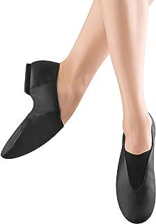 Bloch Dance Men's Super Jazz Leather and Elastic Slip On Jazz Shoe