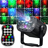 Party Lights, Stage Lights, Disco Lights with Sound Activated&Remote Control, RGB LED 2 in 1, 60 Light mode, USB Powered for Karaoke, Home party, Wedding, Dance, Birthday