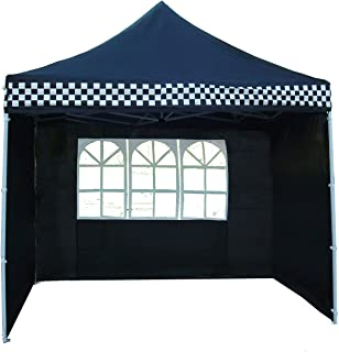 Delta 10'x10' Ez Pop up Canopy Party Tent Instant Gazebo 100% Waterproof Top with 4 Removable Black Checker - E Model Canopies