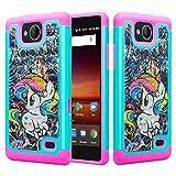 COVERLABUSA Cute Silicone Bling Phone Case Compatible for ZTE Majesty Pro, ZTE Majesty Pro Plus/Z799VL/Z899VL/Z798BL Case, Protective Hybrid Diamond Soft Cover for Girls Women - Rainbow