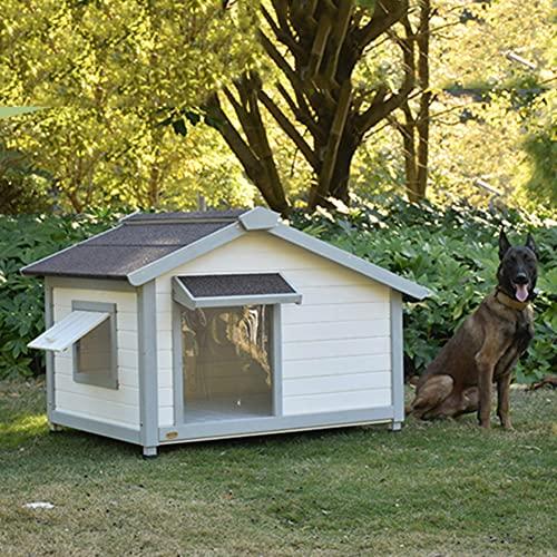 DHYBDZ Casa para Perros Resistente a la Intemperie al Aire Libre, caseta de Madera para Perros con Techo extraíble, casa de Refugio para Mascotas para Perros pequeños, medianos y Grandes