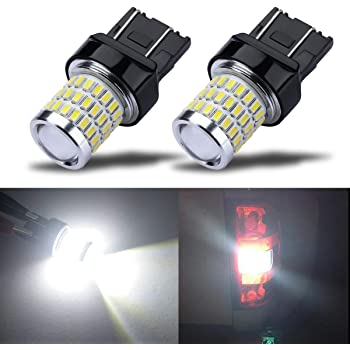7443 2pack White 7443 54SMD Epistar LED Lights Bulbs 7440 T20 992 7441 LED Bulbs Replacement fit for DRL Light Parking Light R-turn Signal F-turn Signal Light