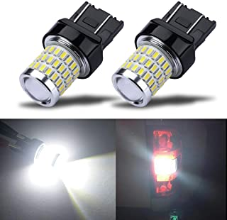iBrightstar Newest 9-30V Super Bright Low Power 7440 7443 T20 LED Bulbs with Projector Replacement for Back Up Reverse Lights or Tail Brake Lights, Xenon White