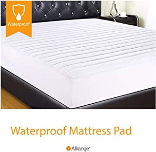 Allrange Clean&Safe Quilted Fitted Waterproof Mattress Pad, Stretch-up-to 16