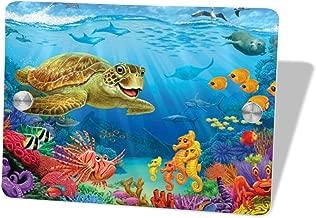 NQDoo Sea Turtle Underwater World Door Sign 5.57.5 in,Wall Hanging Decorative Signs for Boy's&Girl's Bedroom/Kitchen Room/Outdoor