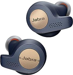 Jabra Elite Active 65t – True Wireless In ear Sport Kopfhörer mit Passive Noise Cancellation – Mit Fitnesstracking über Bewegungssensoren – Kupfer/ Blau