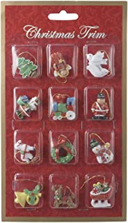 Kurt Adler 12-Piece Resin Petite Treasures Ornament Set, Mini
