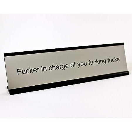 Holmes Stamp & Sign Funny Desk Plate for Boss - Gag Gift