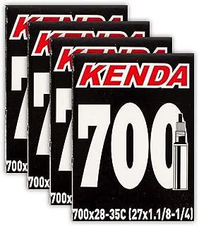 Kenda Road Bicycle Tubes - 700 x 28/35 (27x1-1/8, 1-1/4) - Presta Valve - Four (4) Pack