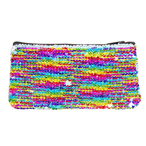 Fashion Angels Style.Lab Rainbow S. Lab Magic Sequin Mini Pencil Pouch Silver