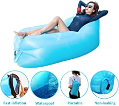 SIEMOO InflatableSofa OutdoorPortable Water Proof& Anti-Air Leaking LoungerAirSofaHammock Chair forPool, Beach,Parties Travelling,Camping,Hiking, Picnics