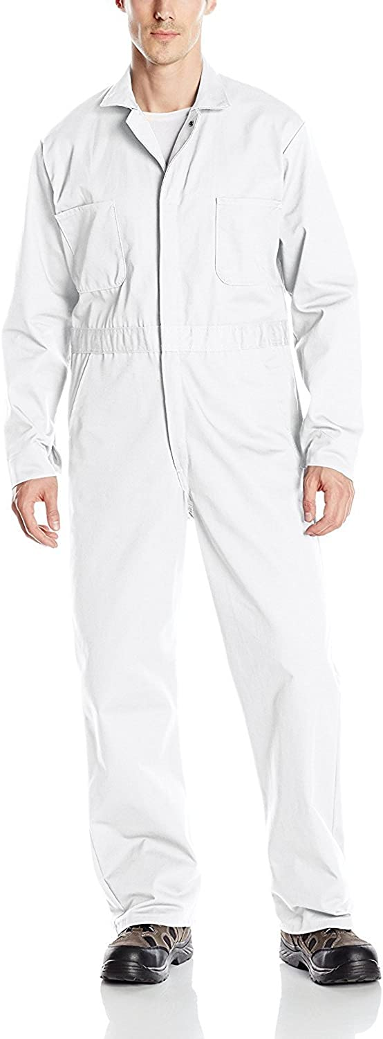 OFFicial site Red Kap Men's Snap Front Cotton Long New sales Coverall Sl Oversized Fit