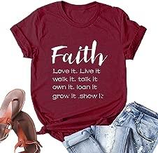 YourTops Women Faith Love It Live It Walk It Talk It T-Shirt